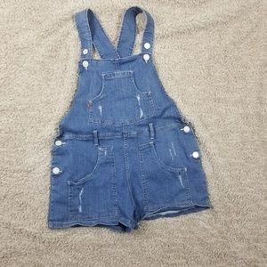 Levi Denim Shortall Medium Jean Short Overalls